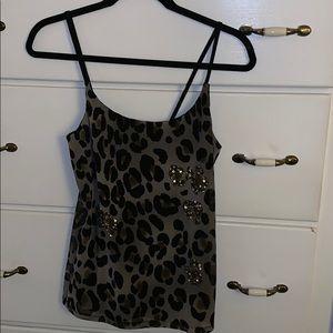 Leopard Print camisole embellishments